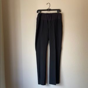 black maternity work pants